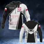 Customize Poland Coat Of Arms Black New Form All Over Print Hoodies