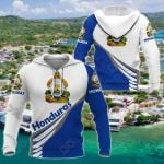 Honduras Style - Coat Of Arms All Over Print Hoodies