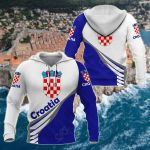 Croatia Style - Coat Of Arms All Over Print Hoodies