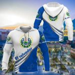 El Salvador Style - Coat Of Arms All Over Print Hoodies