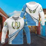 Guatemala Style - Coat Of Arms All Over Print Hoodies