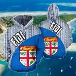 Fiji Wave Tapa All Over Print Hoodies