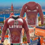 Latvia Sport Style All Over Print Hoodies