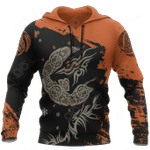 Viking Fenrir Wolf On Fire All Over Print Hoodies