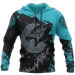 Viking Fenrir Wolf On Ice All Over Print Hoodies