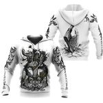 Viking White All Over Print Hoodies