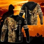 Customize December King Lion All Over Print Shirts