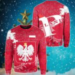 Poland Christmas Coat Of Arms X Style Sweatshirt
