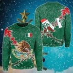 Mexico Christmas Coat Of Arms X Style Sweatshirt