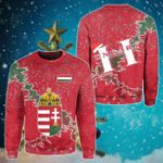 Hungary Christmas Coat Of Arms X Style Sweatshirt