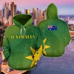 Australia Aboriginal Kangaroo Patterns Flag All Over Print Hoodies