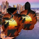 Australia Kangaroo Sunset All Over Print Hoodies