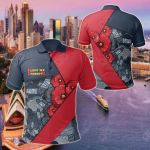 Australia Aboriginal Anzac Day All Over Print Polo Shirt