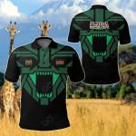 Kenya Strong Lion All Over Print Polo Shirt