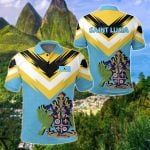 Saint Lucia New Release All Over Print Polo Shirt