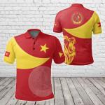 Tigray Coat Of Arms Flag Lion All Over Print Polo Shirt