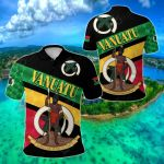Vanuatu Rugby Sporty Style All Over Print Polo Shirt