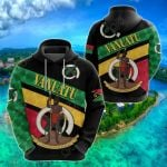Vanuatu Rugby Sporty Style All Over Print Shirts