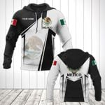 Customize Mexico Coat Of Arms Black New Form All Over Print Hoodies