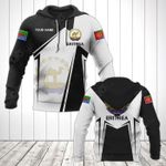 Customize Eritrea Coat Of Arms Black New Form All Over Print Hoodies