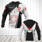 Customize Switzerland Coat Of Arms Black New Form All Over Print Hoodies