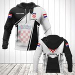 Customize Croatia Coat Of Arms Black New Form All Over Print Hoodies