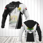 Customize Syria Coat Of Arms Black New Form All Over Print Hoodies