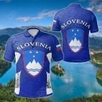 Slovenia In Your Heart All Over Print Polo Shirt