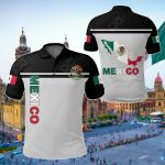 Mexico Sherpa Coat Of Arms Map Flag All Over Print Polo Shirt