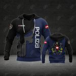 Customize Austria Coat Of Arms Polizei All Over Print Hoodies