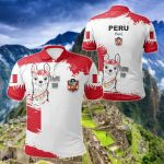 Peru Flag Brush All Over Print Polo Shirt