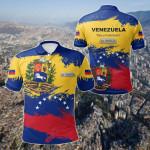 Venezuela Flag Brush All Over Print Polo Shirt