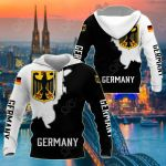 Germany Coat Of Arms Black - White Style All Over Print Shirts
