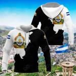Honduras Black - White Style All Over Print Hoodies