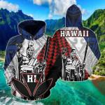 Hawaii Kanaka Cover Kakau Polynesian King All Over Print Hoodies
