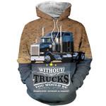 Black Truck All Over Print Shirts