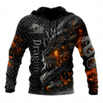 Amazing Fire Dragon All Over Print Shirts
