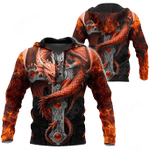 Dragon With Cross All Over Print Shirts
