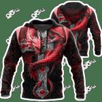 Dragon With Cross V2 All Over Print Shirts