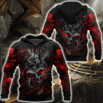 Amazing Red Dragon Mix All Over Print Shirts