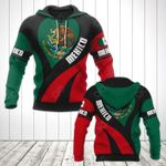 Mexico Coat Of Arms Heart Style All Over Print Hoodies