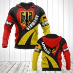 Germany Coat Of Arms Heart Style All Over Print Hoodies
