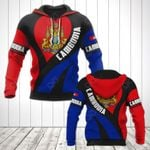 Cambodia Coat Of Arms Heart Style All Over Print Hoodies