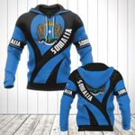 Somalia Coat Of Arms Heart Style All Over Print Hoodies