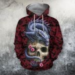 Skull With Dragon All Over Print Shirts