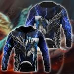 Blue Dragon And Wolf All Over Print Shirts