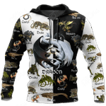 Black And White Dragon All Over Print Shirts
