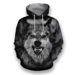 Gray Wolf All Over Print Shirts