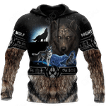 Viking Mighty Wolf All Over Print Shirts