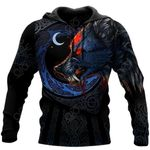 Viking Dark Wolf All Over Print Shirts